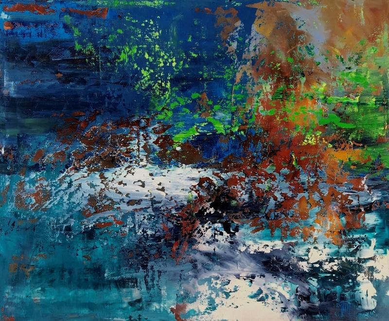 Peinture acrylique Bleue Nicole Thierbach