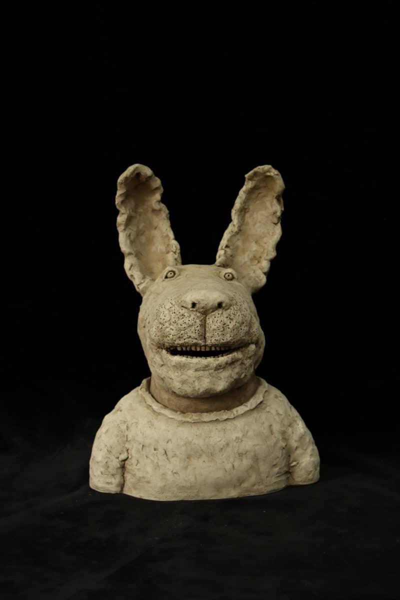 Sculpture le Lapin Heureux