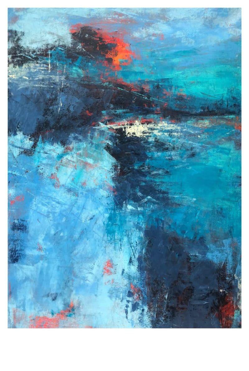 Peinture acrylique Bleue 2 Nicole Thierbach