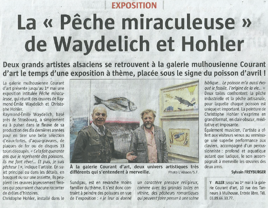 Journal Avril 2019 exposition Hohler Waydelich