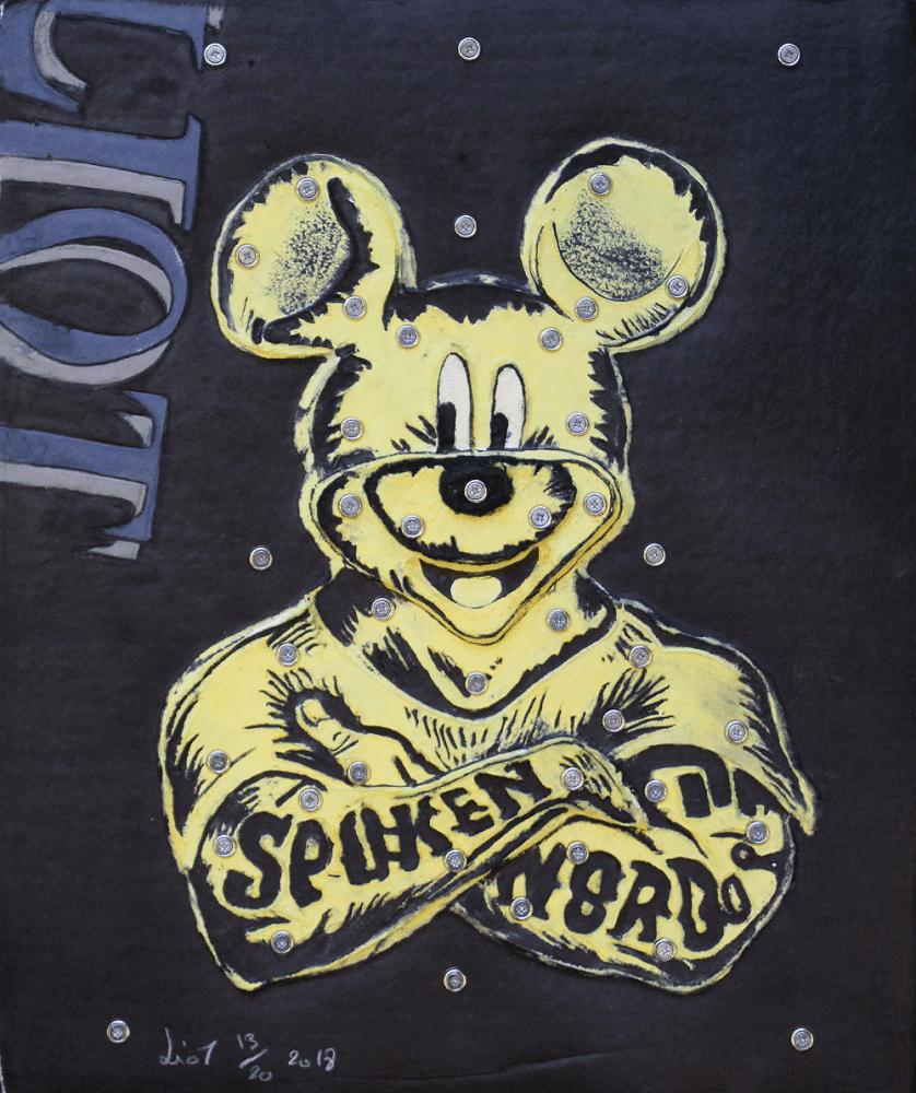 Eric Liot Aquagravure Mickey jaune
