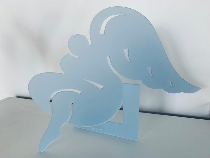 Agnes Descamps Ange Gris/bleu